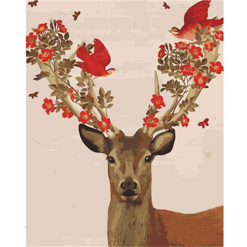 estar en gran demanda HABU Animal autocompletado, Pintura Pintura Pintura Digital, Sin Marco, Animal, Ciervo 40  50Cm Pintura Materias primas  compras online de deportes