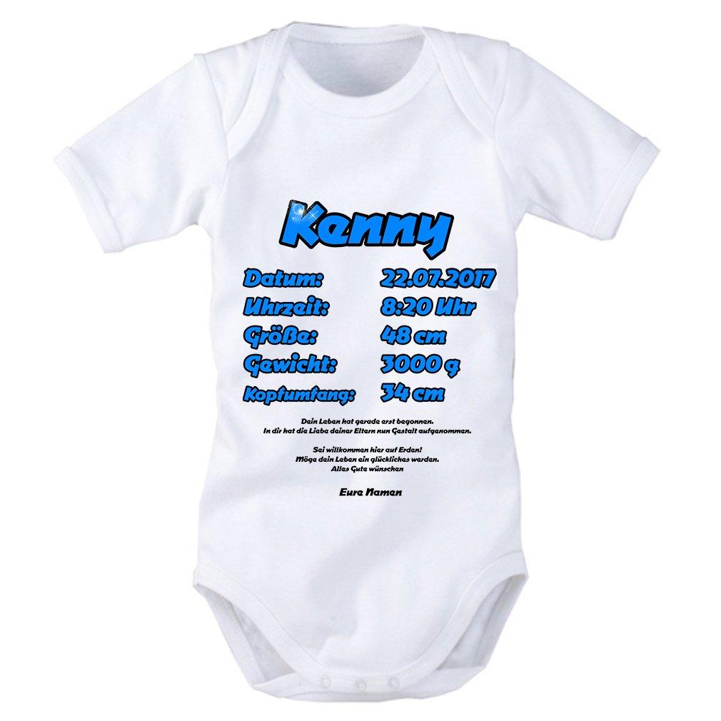 Babybody Baby Body mit Anleitung MIT oder OHNE Wunschname Papa Du schaffst das