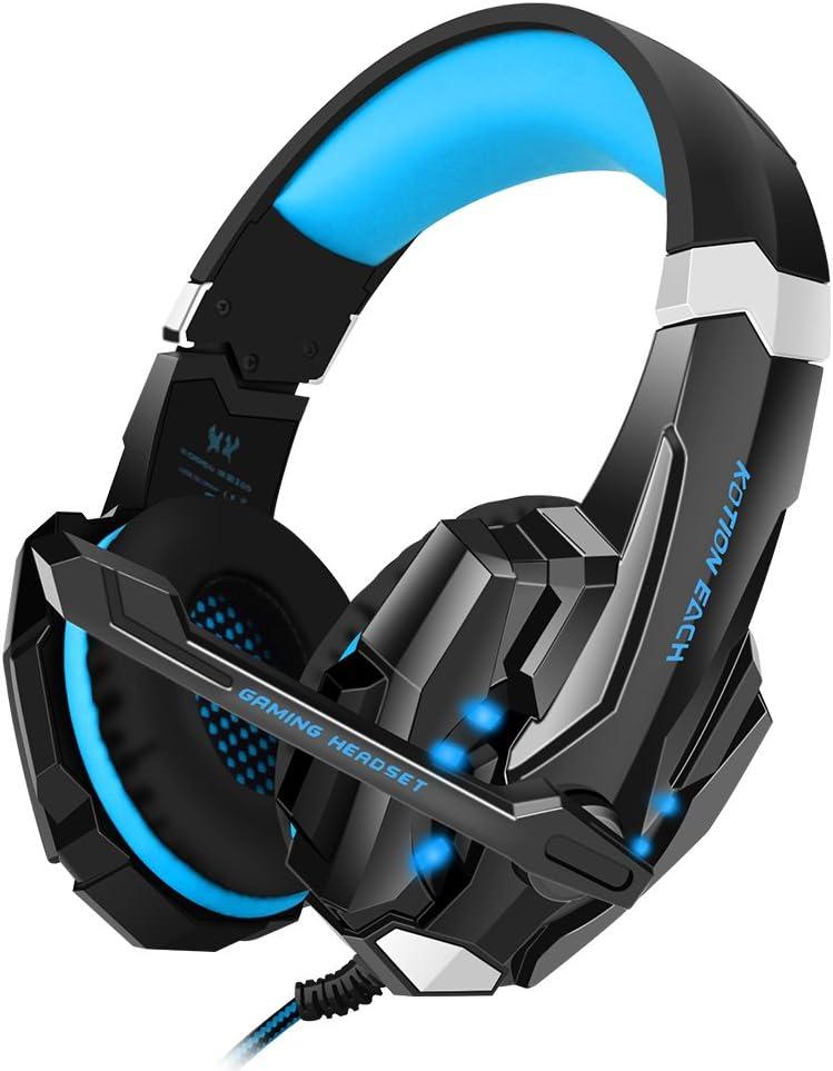 Bengoo Gaming Auriculares ps4 Profesional con Micrófono Cascos Gaming ps4 con 3.5mm PC Luz LED para PS4 Profesional /PC Ordenador/ Smartphone (Camuflaje)