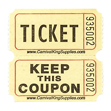 amazon com yellow 2 part raffle tickets 2000 roll office products