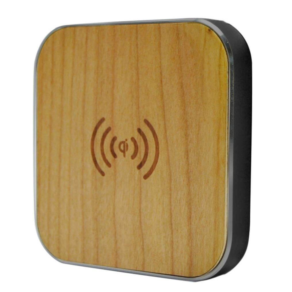 Wireless Charger,AutumnFall New Wood Qi Wireless Charger Charging Pad Magnetic Stand For Samsung S7/S7 Edge and All Qi-Enabled Devices (Black)