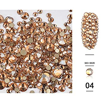 Amazon.com  Artlalic (Pack of 1440pcs) Nail Art Rhinestones 3d Decoration  Flat Bottom Diamond Shiny AB Crystal Mixed Size DIY Accessories  Beauty 9cc2323634cc