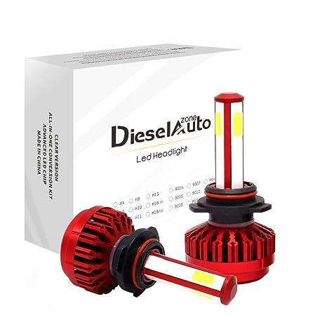 Diesel AutoZone 9005/HB3 LED Faro Bombillas Kit 8000LM 80W 6000K blanco fresco para COB
