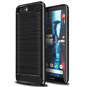 finest selection f074f 462f3 Ferlinso for Huawei Y6 2018 Case, Flexible Rugged Armor Hybrid Defender  Shockproof Protective Case Carbon Fiber Design Cover for Huawei Y6 2018 ...