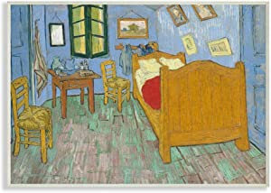 Stupell Industries Van Gogh The Bedroom Post Impressionist Painting Wall Plaque, 10 x 15, Multi-Color