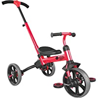 Yvolution Y Velo Flippa 4-in-1 Toddler Trike to Balance Bike Push Trike| Ages 2-5 Years(Red)
