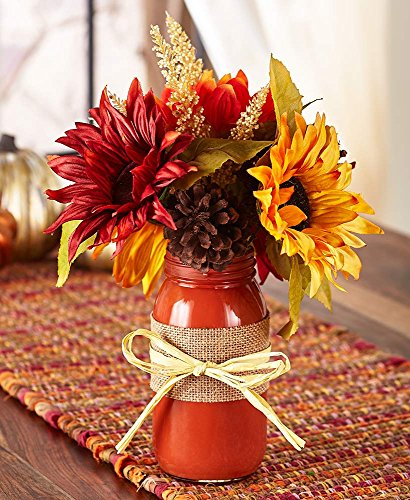 The Lakeside Collection Mason Jar Harvest Florals - Sunflower