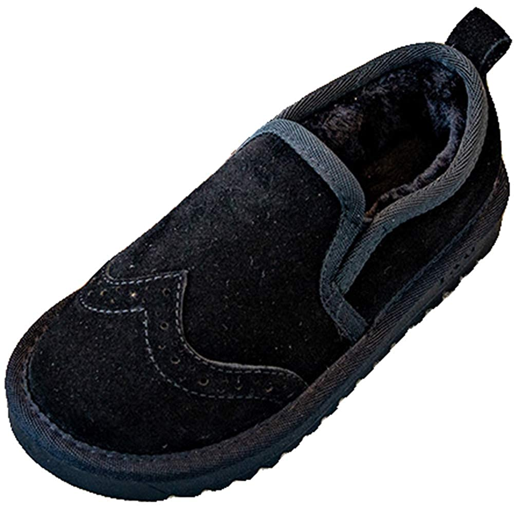 Toddler//Little Kid//Big Kid VECJUNIA Boys Girls Oxford Thicken Boots Low Top Loafer Shoes School Uniform