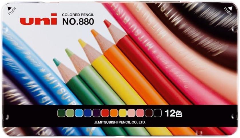 三菱鉛筆 色鉛筆 880 12色