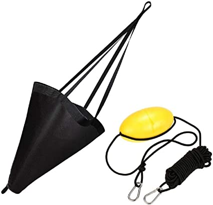 MOOCY 24-Inch Drift Sock Sea Anchor Drogue Sea Brake for Kayaks//Marine Boat//Yacht//Jet Ski//Inflatable//Power Boat//Sail Boat