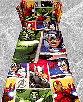 Hulk Iron Man Super Heroes Double Sided NEW Marvel Avengers Cot BEDDING SET
