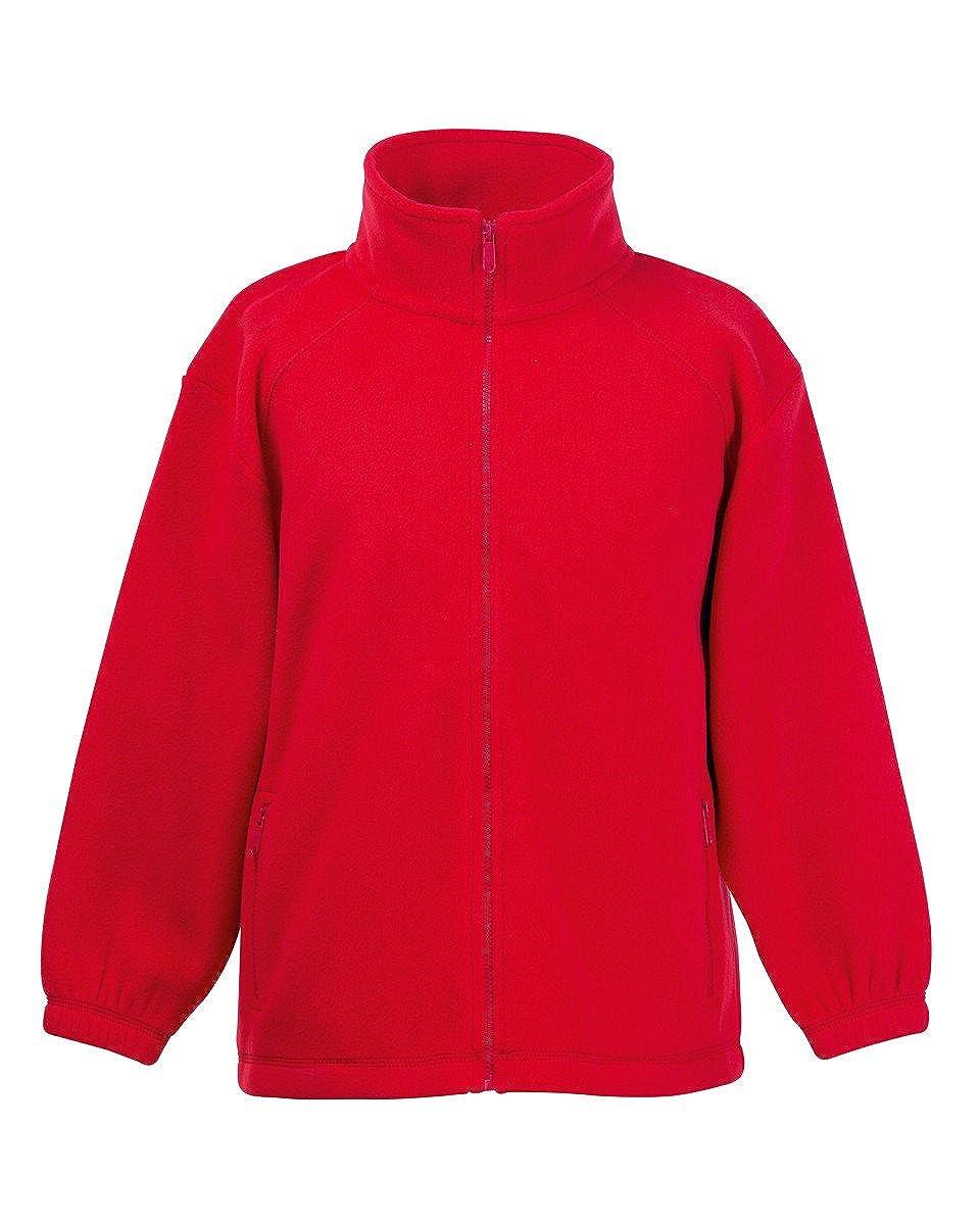 Kids Fruit of The Loom Full Zip Outdoor Fleece, 5 Jacket Colours BTC