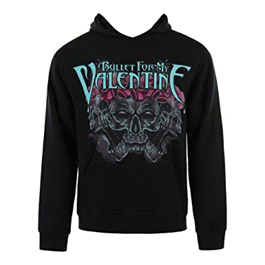 bullet for my valentine crown of roses pull over hoodie