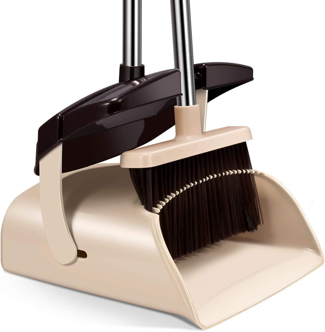 Mosuch Broom/Dustpan Cleans Broom for Home Kitchen Room Office Lobby Floor Use Upright Stand Up Broom and Dustpan Set