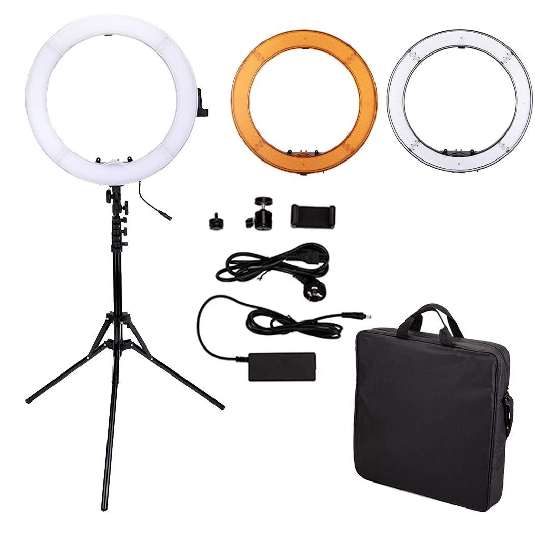 14in LEDリングライトセット カメラ写真ビデオ用照明キット 5500K 調光可能 180個SMD LED ライトスタンド付き Youtube 自撮り撮影 ビデオ撮影用 180個LED  B07GBWLG4Z