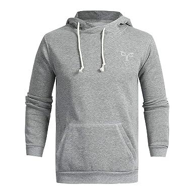 7437a44278dde AIMEE7 Sweat à Capuche Homme Grande Taille Sweatshirt Capuche Automne  Manteau Hiver Chaud de Poche Hooded
