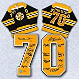 1970 Boston Bruins Team Signed Stanley Cup Jersey LE #/70 - 16 Autos Bobby Orr - Autographed NHL Jerseys