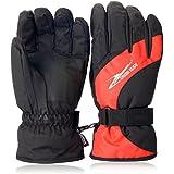 Alando Winter Skihandschuhe Skifahren Handschuhe Outdoor Sport Handschuhe für Damen und Herren & Mädchen Jungen Kinder Jugendliche