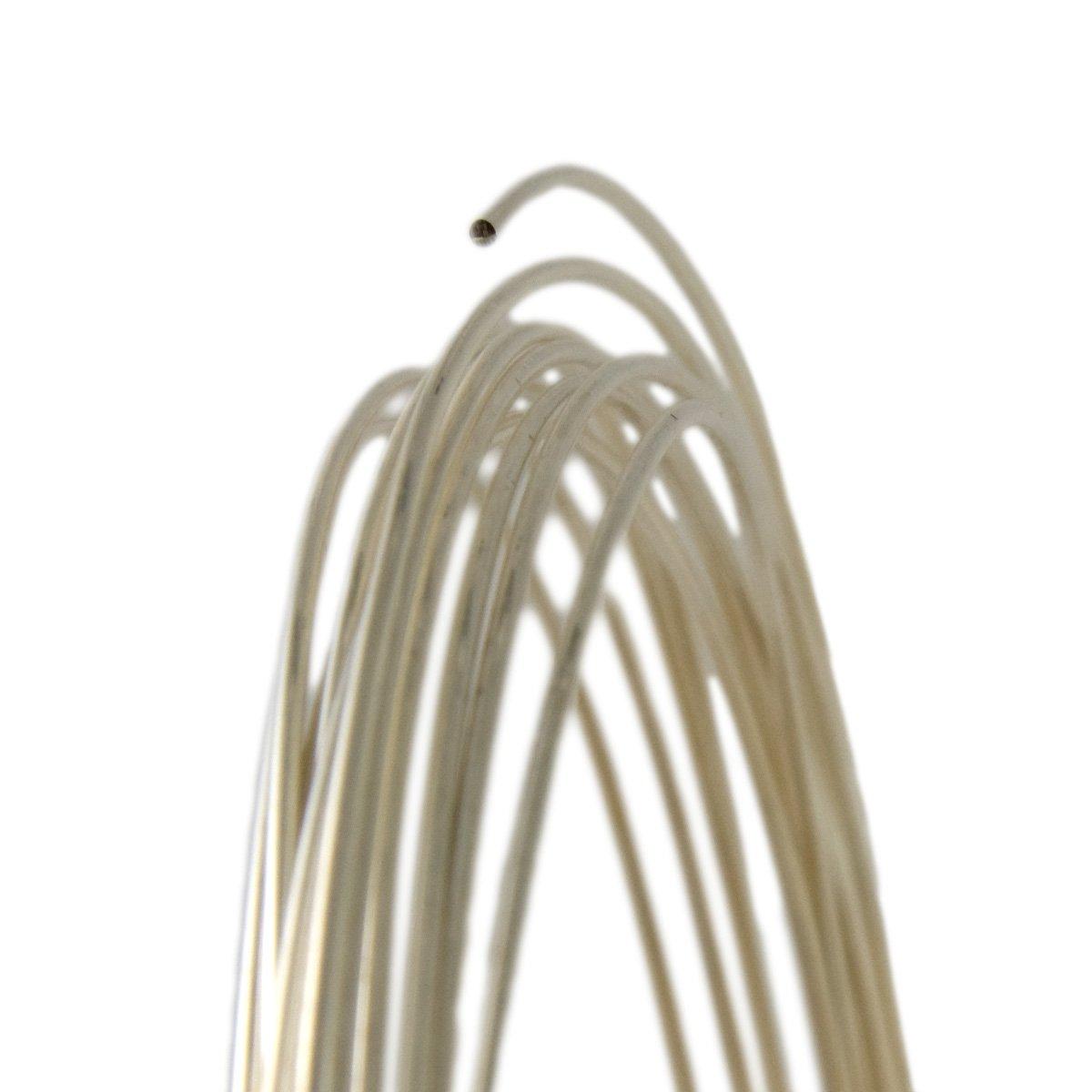 925 Sterling Silver Round Wire 24 gauge 0.5mm Half Hard 5ft