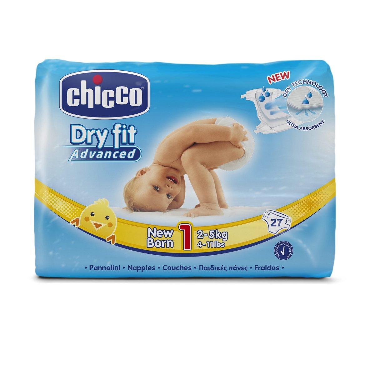Chicco DryFit Pack de pañales ultra absorbentes para recién nacido talla