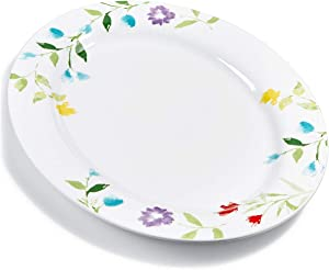 Martha Stewart Collection Floral Serve Platter