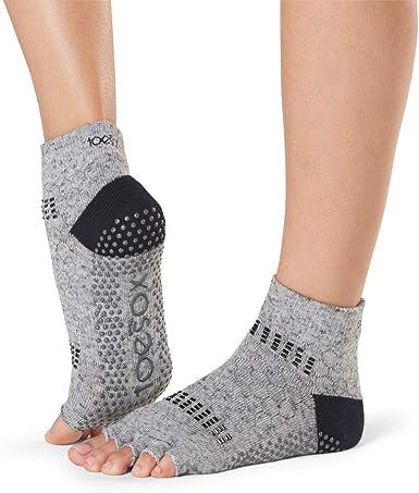 Toesox Grip Pilates Barre Socks-Non-Slip Bellarina Full Toe for Yoga /& Ballet Calze Donna