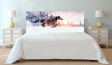 Cabecero Cama PVC Impresión Digital Caballo Marrón 115 x 60 cm | Disponible en Varias Medidas