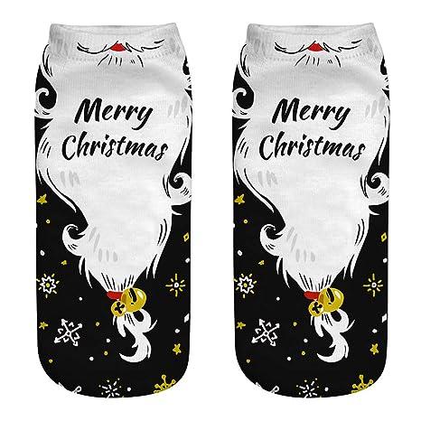 Calcetines de Navidad 3D Patrones Calcetín Calcetines de Navidad Calor de Invierno Papá Noel