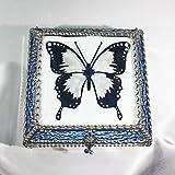 Butterfly, Stained Glass Jewelry Box, Presentation Box, Keepsake Box, Glass Jewels, Swarovski Crystals, USA Made