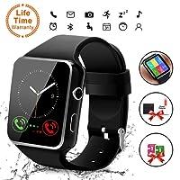 Reloj Inteligente, Android Smartwatch con Bluetooth Fitness Tracker con Ranura para SIM, Reloj Deportivo con Podómetro, Sueño, Calorías Samsung Sony Huawei Android para Hombres Mujeres