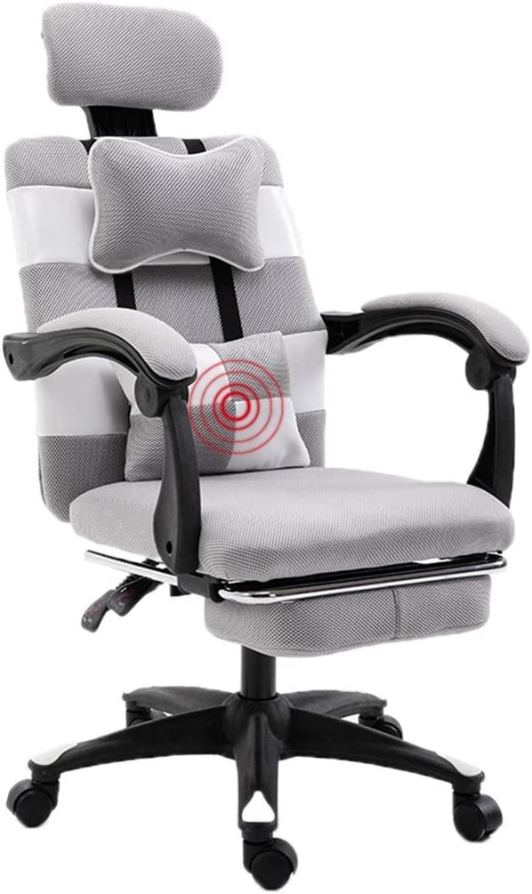 Armchairs GSN office chair Multifunctional chair back waist back back chair conference chair back office chair staff chair back office chair (Color : GRAY) Gray