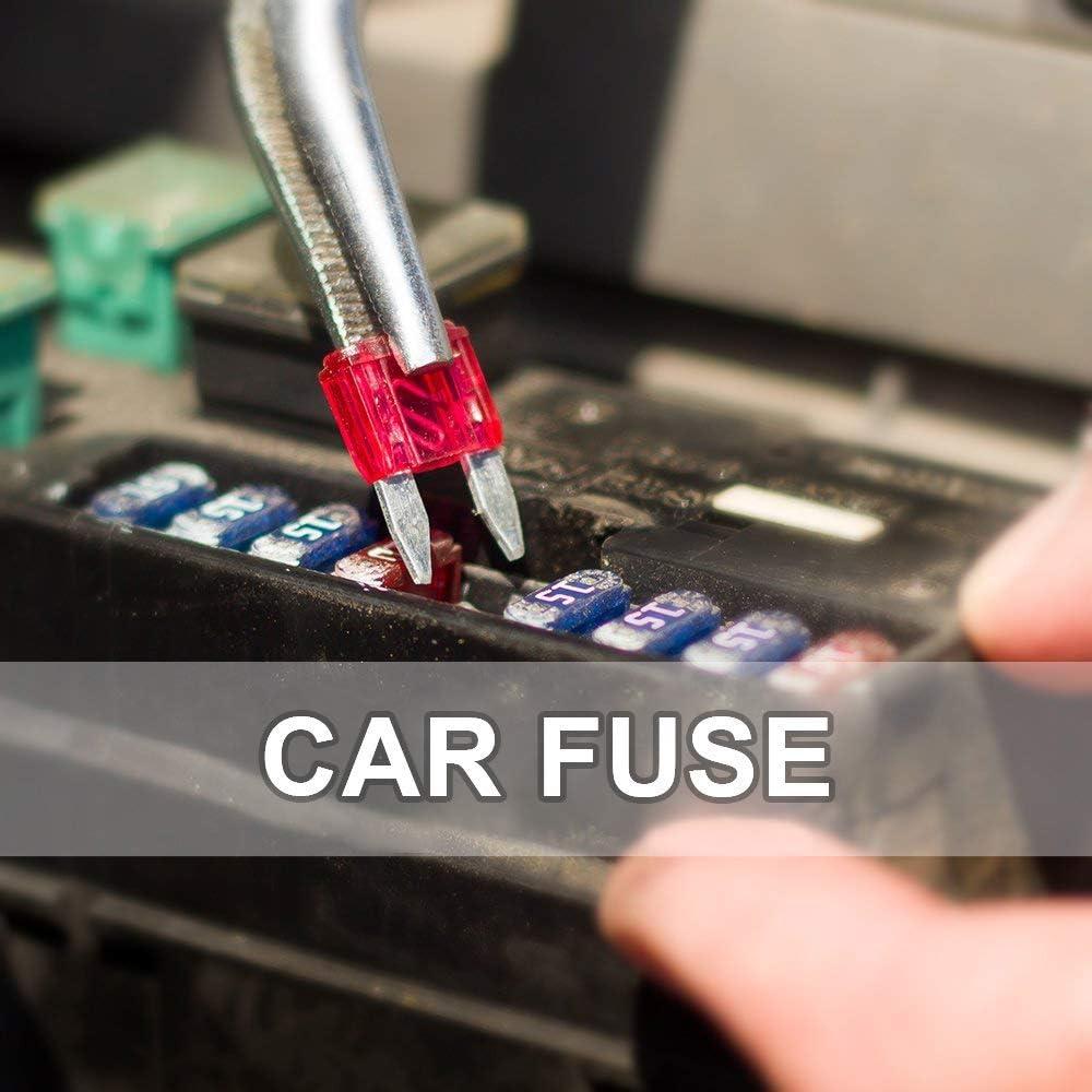 Low Profile Car Fuse 140Pcs 7 Values MCIGICM 5A 7.5A 10A 15A 20A 25A 30A Mini Blade Fuse Set