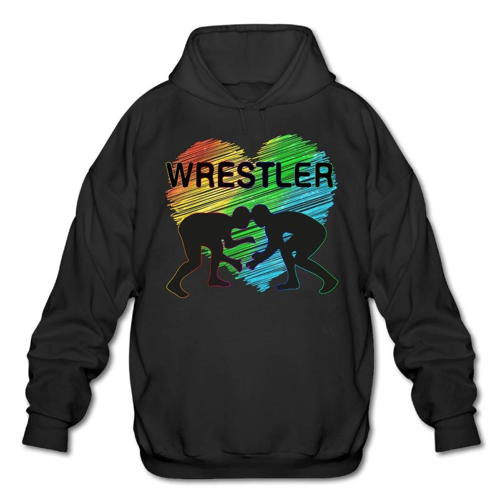 LuckyPowerMen I Love Wrestling Boys Men Cotton Fashion Durable Vintage Warm Fall/Winter Hoodie Sweatshirt Coat