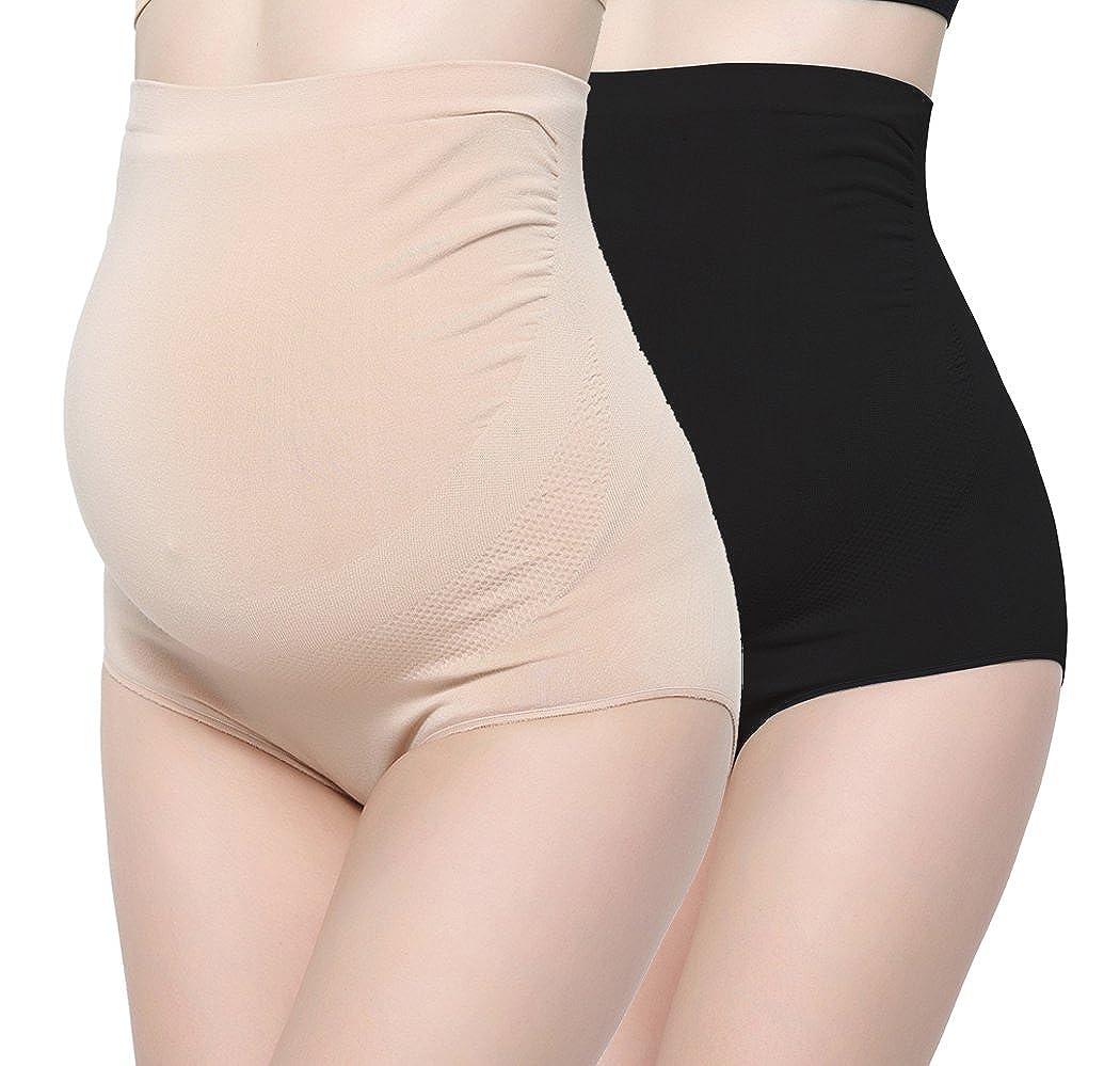 ZUMIY Maternity Panties Bamboo Fiber, Women's Maternity Underwear High-Waist Over Bump Pregnancy Support Briefs