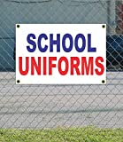 SCHOOL UNIFORMS 2x3 Red White & Blue Banner sign