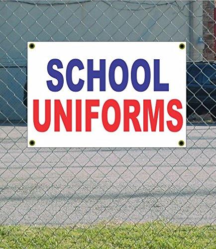 SCHOOL UNIFORMS 2x3 Red White & Blue Banner sign by SuperSigns