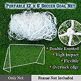 BenefitUSA Soccer Football Goal Net for Portable Football Soccer Door (12' x 6')