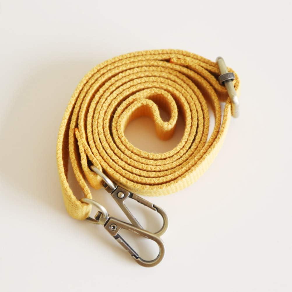 Correa Ajustable de Repuesto para Bolsa de Mensajero 130 cm Color Amarillo HEALIFTY Healefty