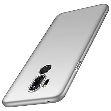 anccer Funda LG G7 ThinQ, Funda LG G7 [Serie Colorida] [Ultra-Delgado] [Ligera] Anti-rasguños Estuche para Carcasa LG G7 ThinQ/LG G7 (Plata Liso)