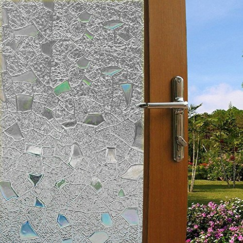 bloss 3d static cling window film stained glass window film decorative frosted window clings. Black Bedroom Furniture Sets. Home Design Ideas