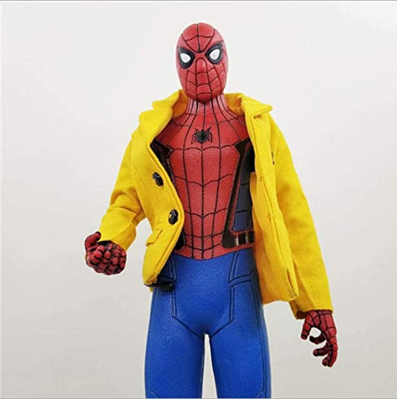 LPFLF Anime Doll Spiderman Chaqueta Amarilla Ropa Real Anime ...