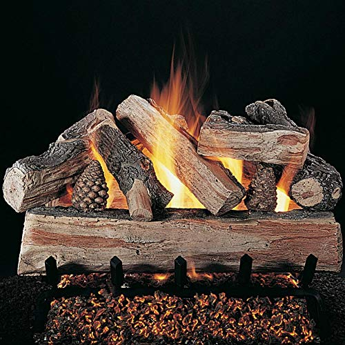 (Rasmussen 18-inch Crossfire Gas Log Set With Vented Flaming Ember Xtra Burner )