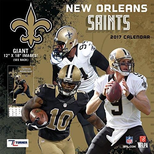 "Turner Licensing Sport 2017 New Orleans Saints Team Wall Calendar, 12""X12"" (17998011918)"