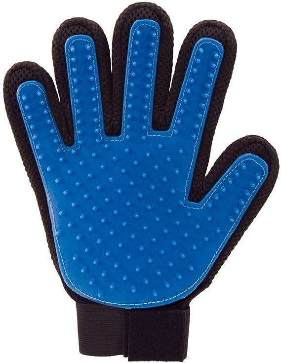 Image ofHealthy Clubs YiKang Guante cepillo eliminar pelo, para limpieza suave y eficiente de mascotas, de masaje, 1 pieza (Blue)