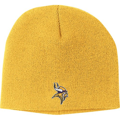 NFL Reebok Minnesota Vikings Gold Basic Logo Knit Beanie (Nfl Stocking Hats Vikings)