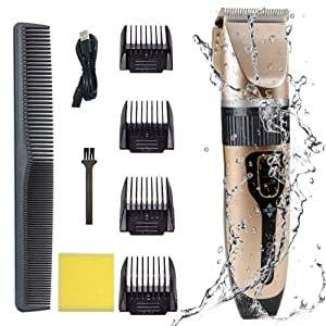 Professional Hair Clippers for Kids Men Trimmer Set with safety Ceramic blade for Home Barber Cordless USB Rechargeable Electric Hair Cutting Machine Grooming Haircut Kit Waterproof