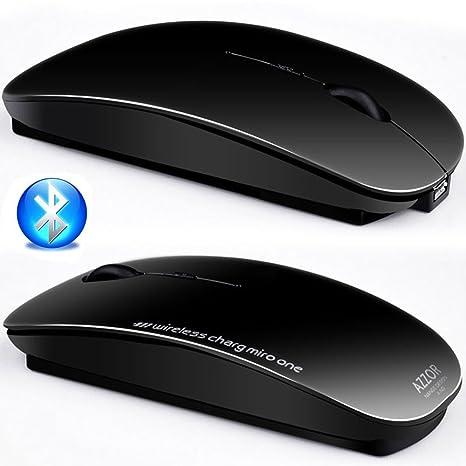 UrChoiceLtd® 2017 AZZOR V8 Bluetooth Mouses 2400DPI Recargable De 2,4GHz Inalámbrico Silencioso 4