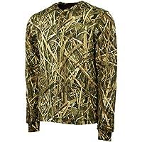 Mossy Oak Long Sleeve Henley Camo Shirt Men