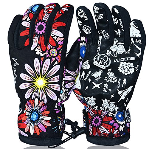 EDTara Winter Windproof Anti-Slip Warm Gloves for Riding Cycling Motorcycle Outdoor Activities M