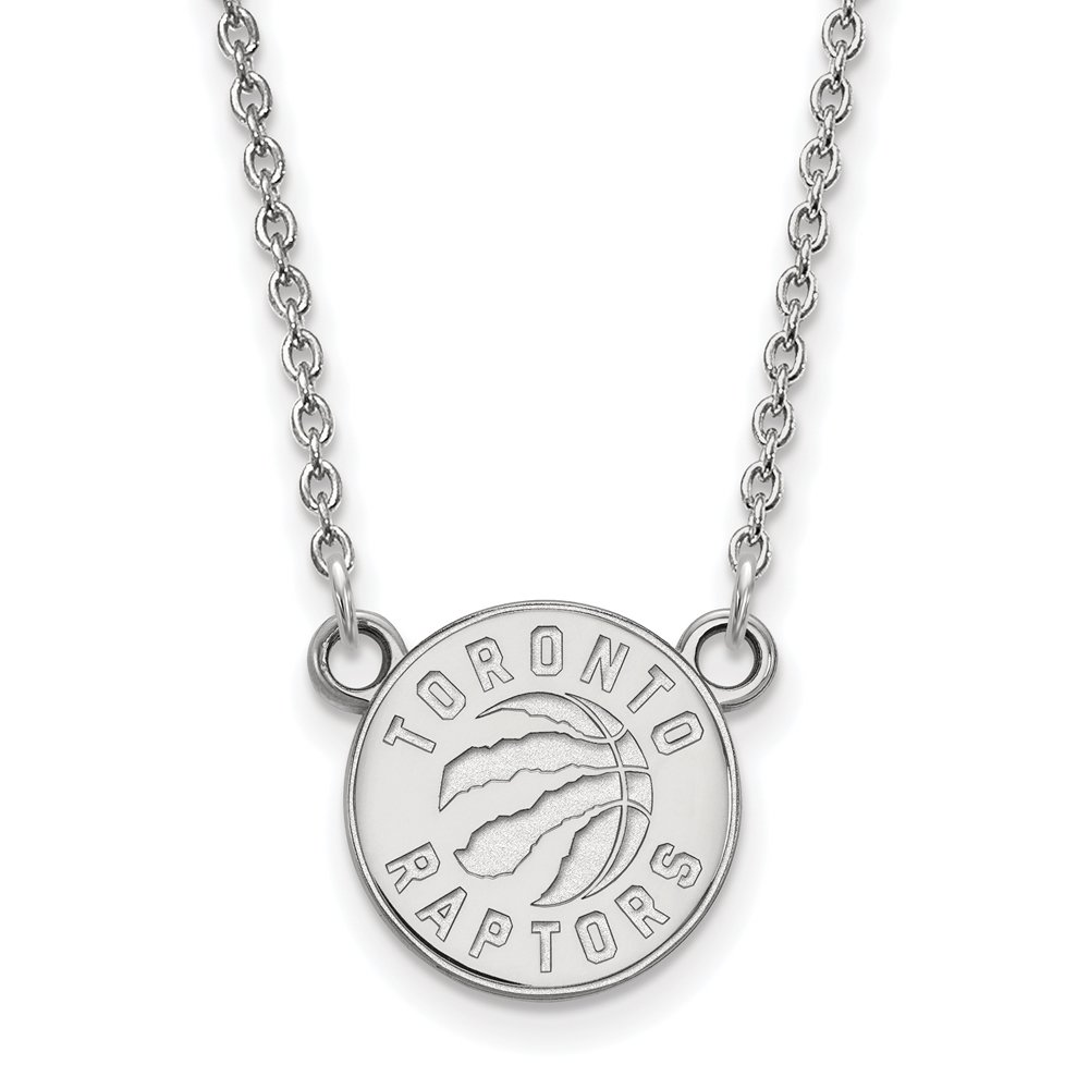 NBA Toronto Raptors Sm Pendant Necklace in 10K White Gold - 18 Inch